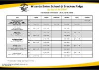 Timetable & Fees